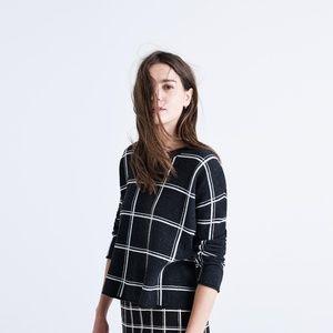 Madewell Dark Gray Double Windowpane Sweater